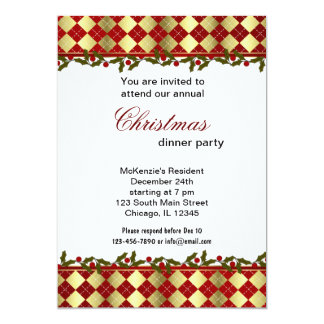 Christmas Bells dinner Personalized Invites