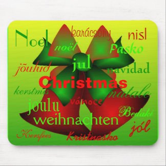 """""""Christmas Bells From Around The World"""" Mouse Mats"""