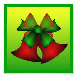 Christmas Bells I 5.25x5.25 Square Paper Invitation Card