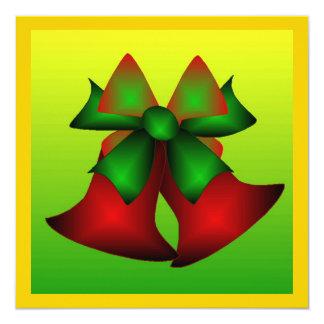 Christmas Bells IV 5.25x5.25 Square Paper Invitation Card