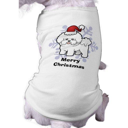 Christmas Bichon Frise Doggie T Shirt