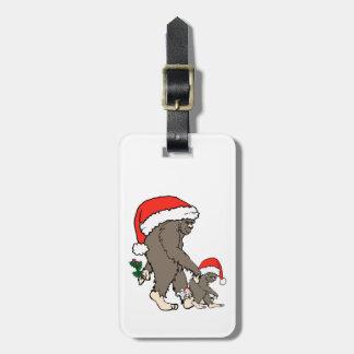 Christmas Bigfoot Family Luggage Tag