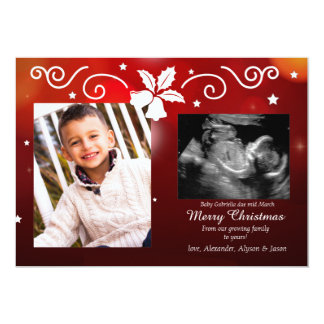 Christmas Blessing Photo Pregnancy Announcement