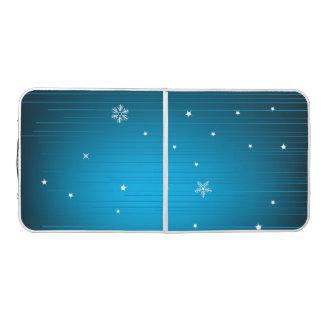 Christmas Blue Snowy Pong Table