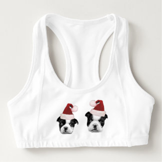 Christmas Boston Terriers Sports Bra