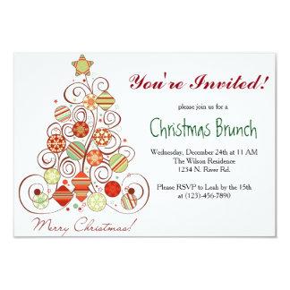 Christmas Brunch 9 Cm X 13 Cm Invitation Card