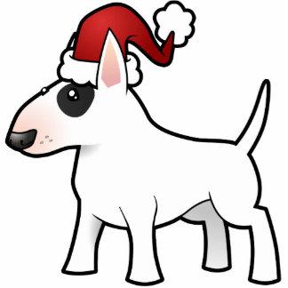 Christmas Bull Terrier Ornament Photo Sculpture Decoration