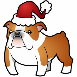 Christmas Bulldog Ornament Photo Sculpture Decoration