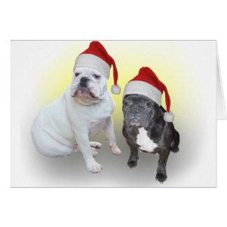 Christmas bulldogs 1 card