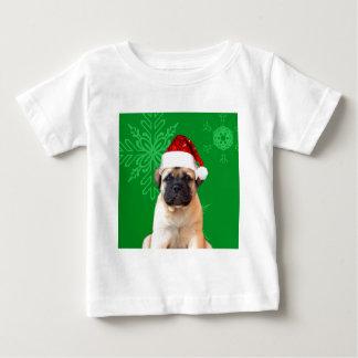 Christmas Bullmastiff puppy Baby T-Shirt