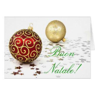 Christmas Buon Natale I Card