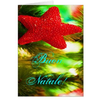 Christmas Buon Natale Red Christmas Star Card