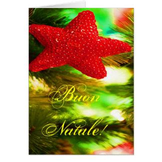 Christmas Buon Natale Red Christmas Star I Card