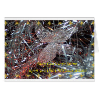 Christmas Butterfly Note Card