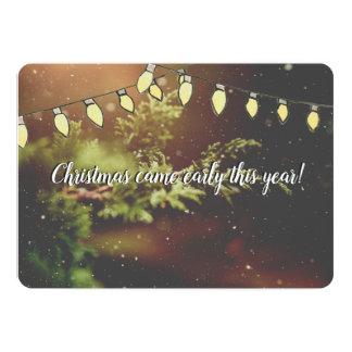 Christmas Came Early Expecting Christmas Card