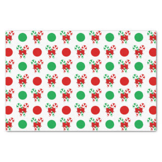 Christmas Candy Canes Pattern Tissue Paper