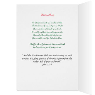 Christmas Candy Greeting Card