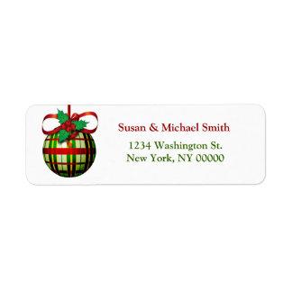 Christmas Card Address Labels | Christmas Ornament