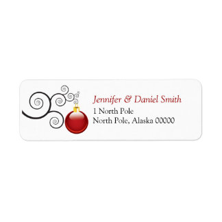 Christmas Card Label Stickers Holiday Ornament Return Address Label