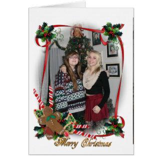 Christmas card photo frame