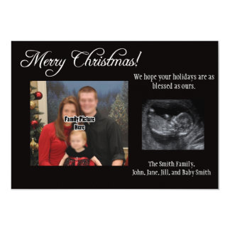 Christmas Card Pregnancy Announcement Ultrasound