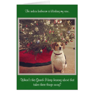 Christmas Card, Standard white envelopes included Note Card