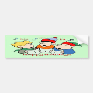 Christmas Carolers Bumper Stickers