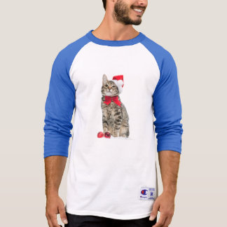 Christmas cat - santa claus cat - cute kitten T-Shirt