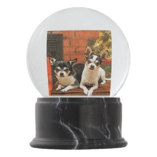 Christmas Chihuahua's Snow Globe