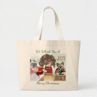 Christmas Cookie Kitten Jumbo Tote Bag