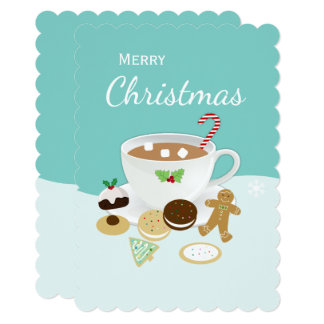 Christmas cookies and hot chocolate card