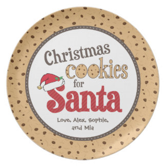 Christmas Cookies for Santa Plate