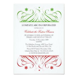Christmas Corporate Party 13 Cm X 18 Cm Invitation Card