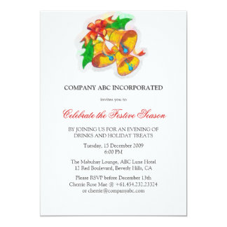 Christmas Corporate Party - Water Color Effect 13 Cm X 18 Cm Invitation Card