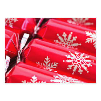 "Christmas crackers 5"" x 7"" invitation card"