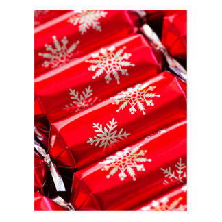 Christmas crackers post card