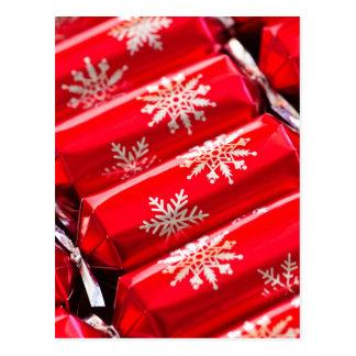 Christmas crackers postcard