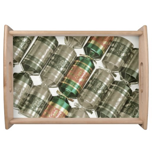 Christmas crackers print serving tray