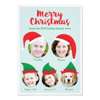 Photo Collage Christmas Cards