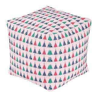 Christmas Cube Pouf Cube Pouffe