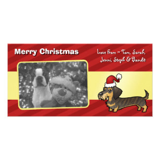 Christmas Dachshund (wirehair) Card