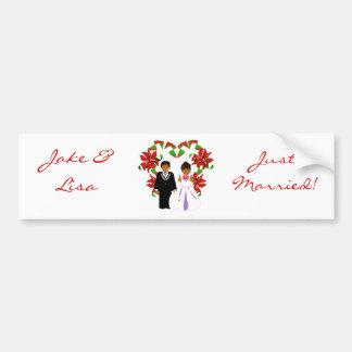 Christmas/December Just Married II Bumper Sticker Car Bumper Sticker