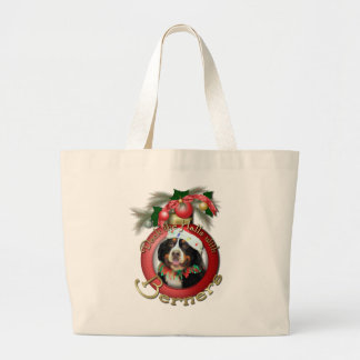 Christmas - Deck the Halls - Berners Large Tote Bag