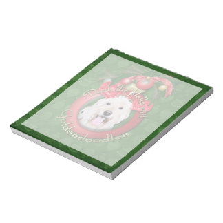 Christmas - Deck the Halls - GoldenDoodles - Daisy Notepad