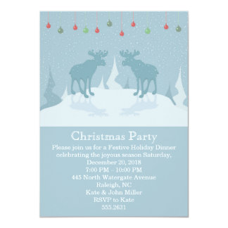 Christmas deers-Christmas Party Invitation