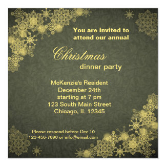 Christmas Dinner 13 Cm X 13 Cm Square Invitation Card