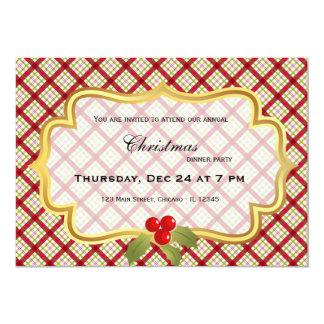 Christmas dinner 13 cm x 18 cm invitation card