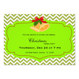 Christmas dinner 13 cm x 18 cm invitation card
