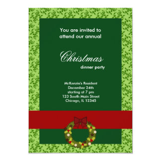 Christmas Dinner Damask Announcements
