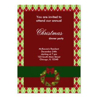Christmas Dinner Diamonds Personalized Announcement
